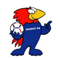 cb109 mascote da copa 1998 - Os piores mascotes de todas as Copas