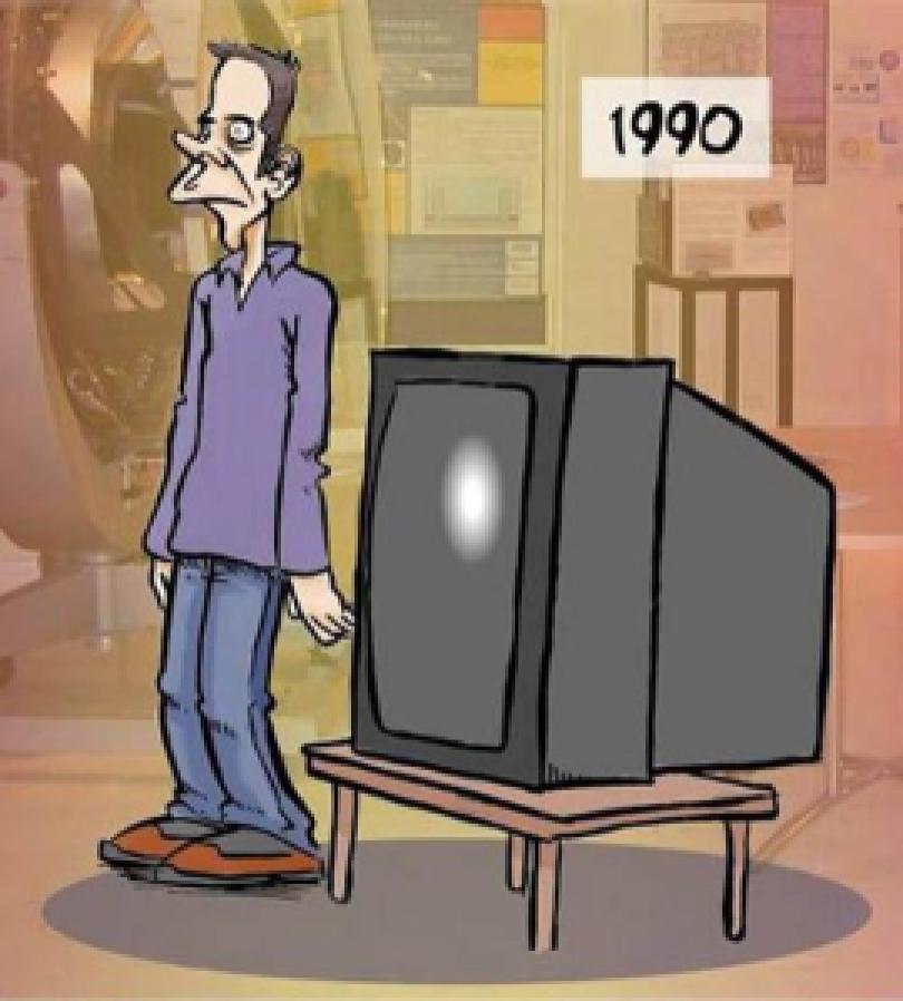 83e70 telespectador 1990 - A evolução do ser humano junto com os aparelhos eletrônicos