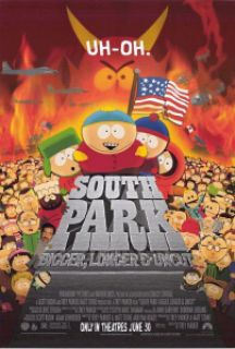 8f2ec southparkbiggerlongeruncut 1999 poster - Qual o filme americano que mais falou palavrão de todos os tempos?