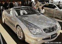 c5218 mercedes com diamante - Eles não tem onde colocar dinheiro...Carros de Ouro e Diamante
