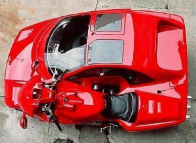 d3389 ferrari hybrid bike car 2 - Já pensou em uma moto e um carro juntos?
