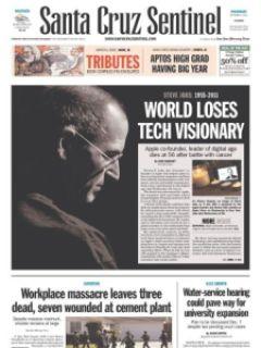 3ffbb steven jobs jornais 5 - Capas e Manchetes: Mídias Internacionais dedicam o dia ao grande Steven Jobs