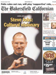 9315e steven jobs jornais 2 - Capas e Manchetes: Mídias Internacionais dedicam o dia ao grande Steven Jobs