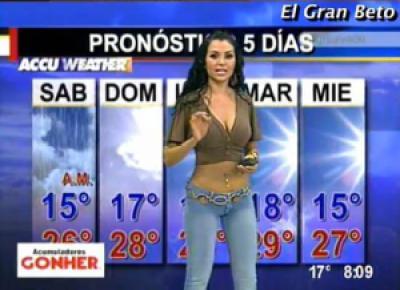 d0007 female reporter 12 - Previsão do Tempo! Pra quê?