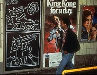 18104 keithharing subway metro5 - Keith Haring - Google fez homenagem ao artista e ativista