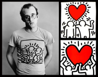 2a416 keith haring 89 nc3a3o a aids sida - Keith Haring - Google fez homenagem ao artista e ativista