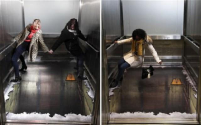 2c496 ilusao elevator - Cuidado: O elevador sem chão