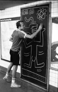 6e7c2 keithwork foto antiga do ativista - Keith Haring - Google fez homenagem ao artista e ativista