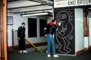 b04ad keithharing subway metro4 - Keith Haring - Google fez homenagem ao artista e ativista
