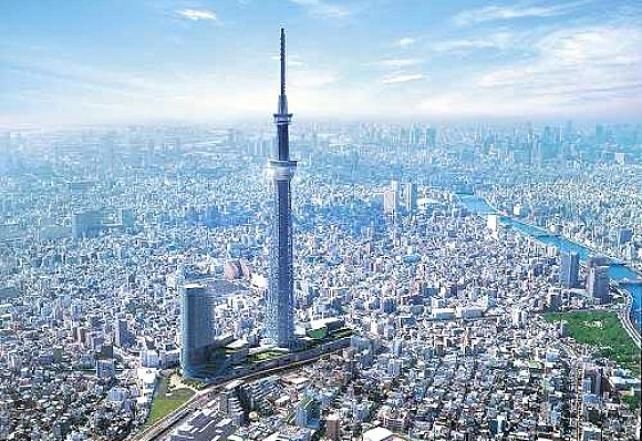 eb1a3 toqui torre nova tokyo - Tokyo Sky é inaugurada como a Torre mais alta do mundo