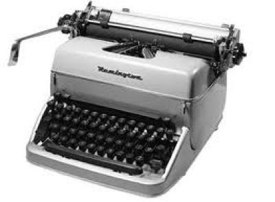 0896e maquina de escrever - História real com crianças sobre a TV e a Máquina de Escrever