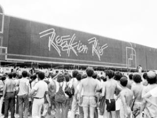 74e49 rock in rio palco - 1985: Queen a apresentação inesquecivel do Rock in Rio