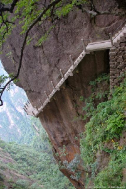 b65fc cliff path huangshan mountain china - Lugares maravilhosos de tirar o fôlego - Parte #01