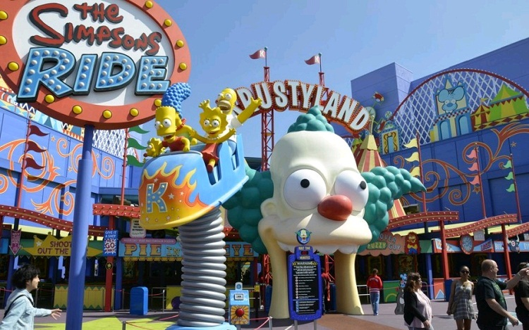 32fad parque dos simpsons eua - Cidade dos Simpsons: Mais um motivo para você visitar a Florida