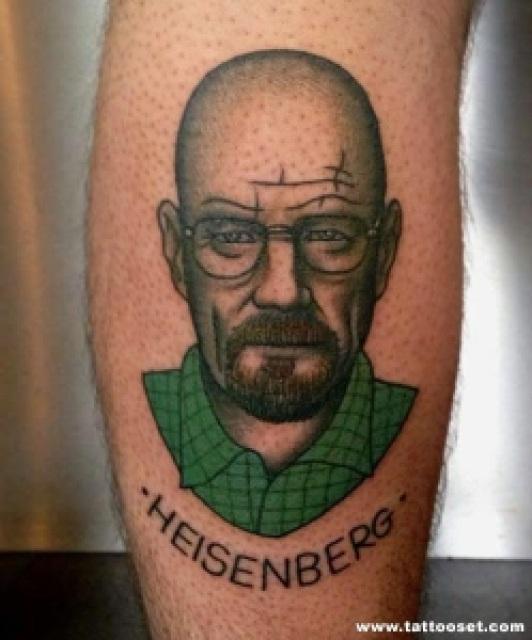 """453a4 21189 heisenberg large - As 33 Melhores Tatoos de Walter White - Vulgo """"Heinsemberg"""""""