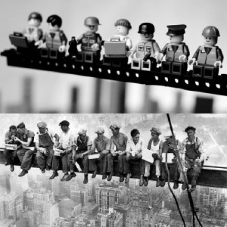 """4d499 charlesc ebbetslunchatopaskyscraper homengem2 - Charles C. Ebbets o fotógrafo das alturas """"A hora do almoço"""""""