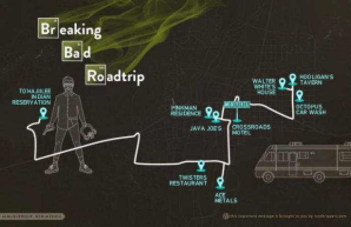 d90d5 breaking bad trip - Breaking Bad: Desde pizza no telhado a turismo em Albuquerque