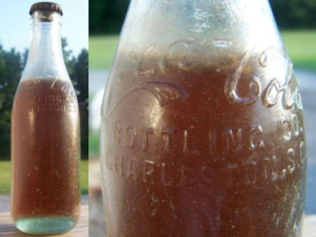 c1687 coca - Garrafa de Coca-Cola mais antiga do mundo