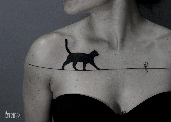 06b8c surreal tattoos ilya brezinski a4b - Artista llya Brezinski impressiona com a simplicidade de suas tatugens