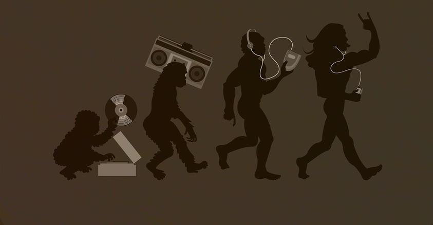 Curiosidades, Entretenimento, Jornalismo, Comunicação, Marketing, Publicidade e Propaganda, Mídia Interessante 33811-evolution_music Vídeo: Evolução da música em 4 minutos Internet Música Vídeos
