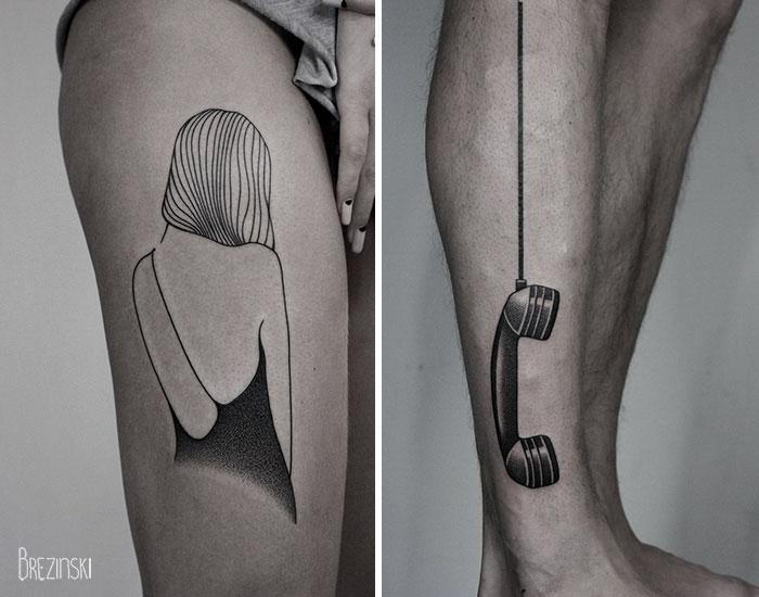 c5137 surreal tattoos ilya brezinski a2b - Artista llya Brezinski impressiona com a simplicidade de suas tatugens