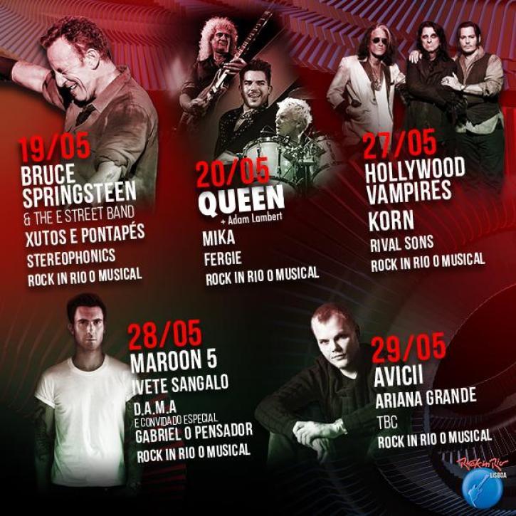 f7aed rockinriolisboa - Relembre: Homenagem ao Queen - Histórico e Utópico no RockinRio Lisboa 2016