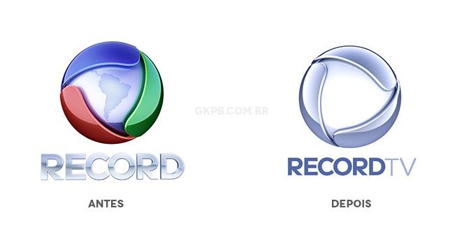 195d5 novo logo record tv antes e depois - Logo da Rede Record é menos colorida e tira o mapa da América do Sul
