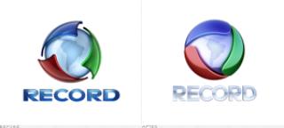 495d7 rede record logo - Logo da Rede Record é menos colorida e tira o mapa da América do Sul
