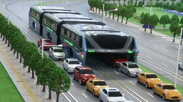 9b218 futuro2 - Ônibus chinês será o futuro para desafogar o trânsito nas metrópoles