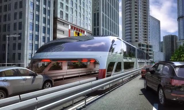 c9de1 futuro - Ônibus chinês será o futuro para desafogar o trânsito nas metrópoles